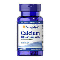 Кальций с витамином Д3 Calcium Vitamin D3 Puritan's Pride,  - 60 таб.