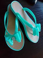 """Вьетнамки силиконовые """"Flip flops"""" мятный, 25 см, фото 1"""