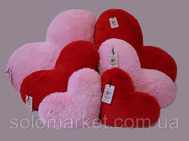 Подушка-сердце 30 см, (розовый и красный)