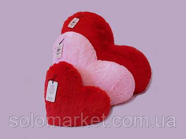 Подушка-сердце 50 см, (розовый и красный)