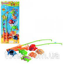 Рыбалка детская на магнитах Игровой набор 2 удочки , 6 рыбок M 0043 Т