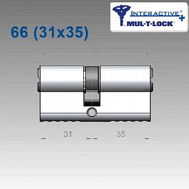 Цилиндр Mul-T-Lock Interactive+ 66 мм (31х35)