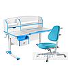 Комплект парта для подростка Sognare Blue + детское ортопедическое кресло Primavera I Blue FunDesk
