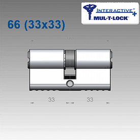 Цилиндр Mul-T-Lock Interactive+ 66 мм (33х33)