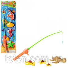 Рыбалка детская на магнитах  удочка и 4 морских обитателя  M 0036 U/R Т