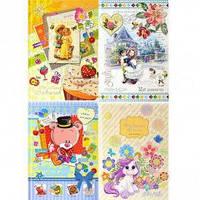 Дневник-анкета для девочек В5, 64 листа, обложка твердая, картон+фольга