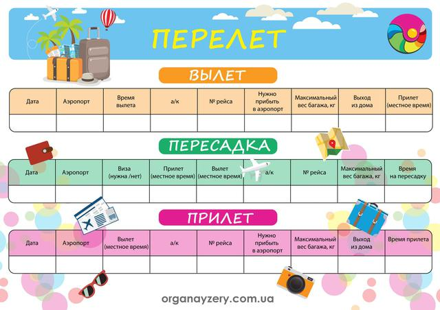 "Чек-лист ""Перелет"""