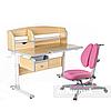 Комплект парта для подростка Sognare Grey + детское ортопедическое кресло Primavera II Pink FunDesk