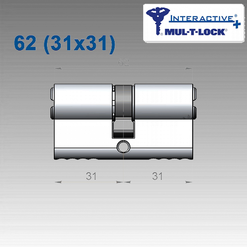 Цилиндр Mul-T-Lock Interactive+ 62 мм (31х31)