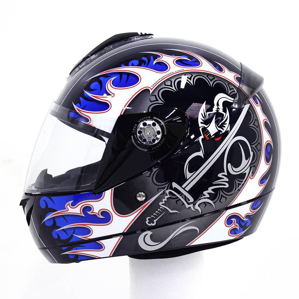 Шлем LAZER BORA RONIN (р.M) черно-синий