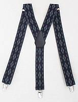 Галстучные мужские подтяжки черно-серые, фото 1