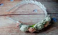 """Ободок для волос """"Розы и кружево 2"""", фото 1"""