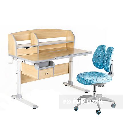 Комплект парта для подростка Sognare Grey + детское ортопедическое кресло SST9 Blue FunDesk, фото 2