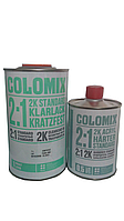 Лак бесцветный акриловый 2к 1л Сolomix + отвердитель 2к 0,5л