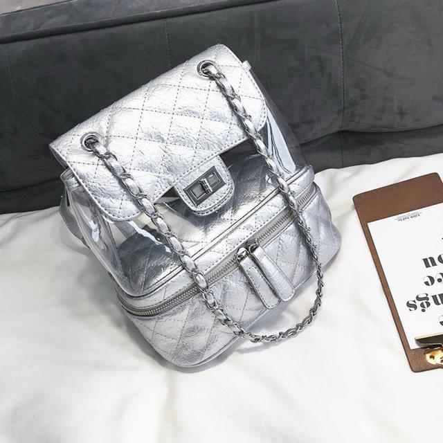 Стеганая сумка-рюкзак серый