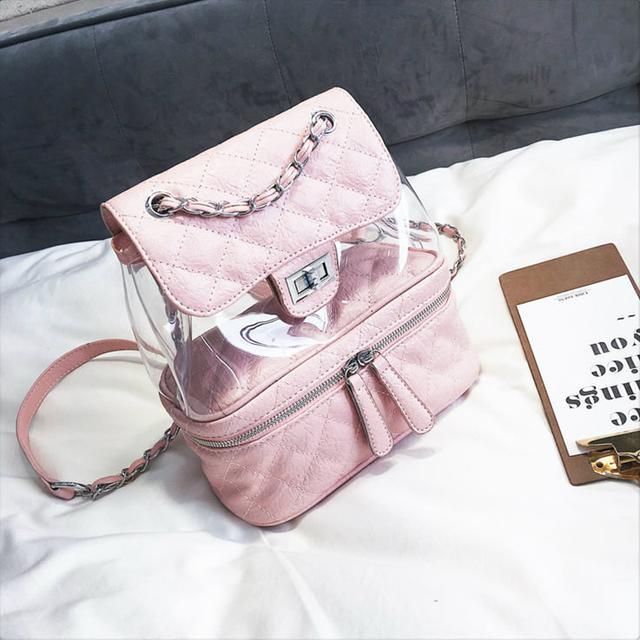 Стеганая сумка-рюкзак розовый