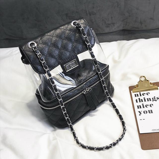 Стеганая сумка-рюкзак черный