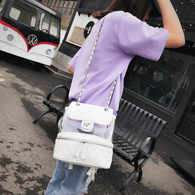 Стеганая сумка-рюкзак белый