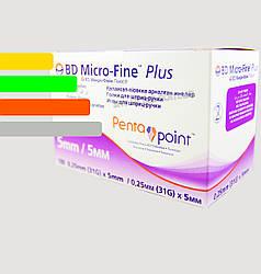 Иглы инсулиновые Микрофайн 5 мм для шприц-ручек - BD Micro-fine Plus 5 mm