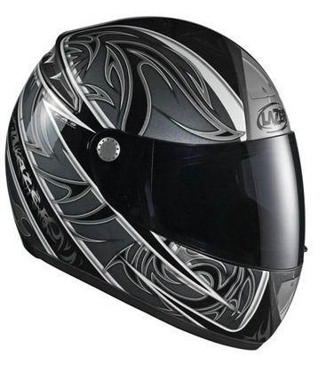 Шлем LAZER FIBER D1 VOLUTE (р.XL) черно-серый