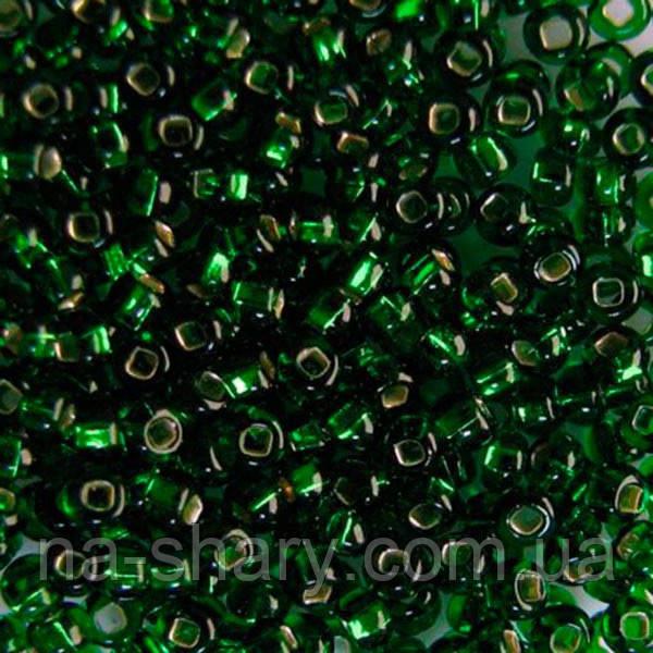 Чешский бисер для рукоделия Preciosa (Прециоза) оригинал 50г 33129-57120-10 Зеленый