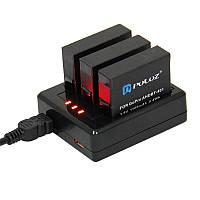 Зарядное устройство для GoPro 4 AHDBT-401 на три аккумулятора с индикатором заряда (2A), фото 1