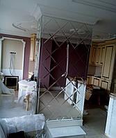 Изготовление и установка зеркальной плитки с фацетом