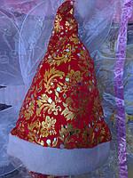 Шапка Санта Клауса оптом, Шапка деда мороза новогодняя, фото 1