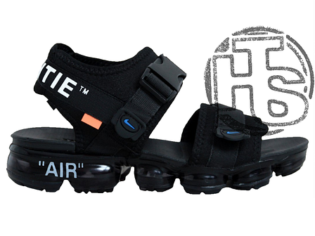 Мужские сандалии Nike Air VaporMax x Off White Sandals Black 850588-001, фото 2