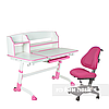 Комплект подростковая парта для школы Amare II Pink + ортопедическое кресло Bravo Pink FunDesk