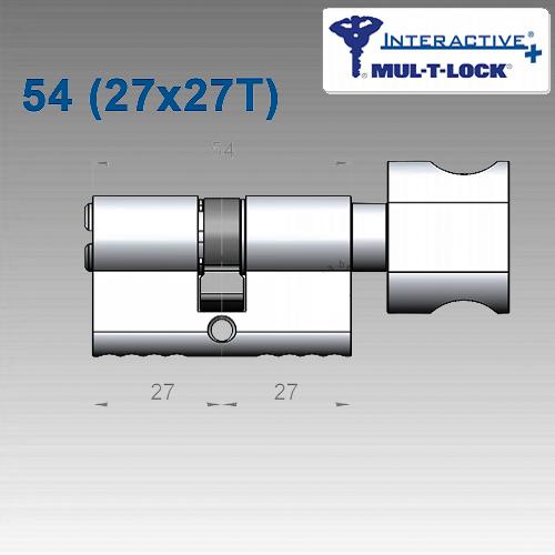 Цилиндр Mul-T-Lock Interactive+ 54 мм (27х27T)