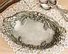 Коллекционная оловянная фруктовница, конфетница, пищевое олово, Германия