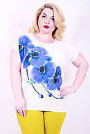 Футболка 609 орхидея синяя