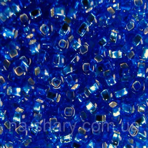 Чешский бисер для рукоделия Preciosa (Прециоза) оригинал 50г 33129-37050-10 Синий