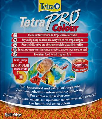 Корм для всех видов рыб TetraPro Colour 12 гр чипсы