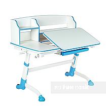 Комплект подростковая парта для школы Amare II Blue + ортопедическое кресло Bravo Grey FunDesk, фото 3