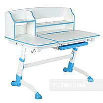 Комплект подростковая парта для школы Amare II Blue + ортопедическое кресло Bravo Grey FunDesk , фото 2