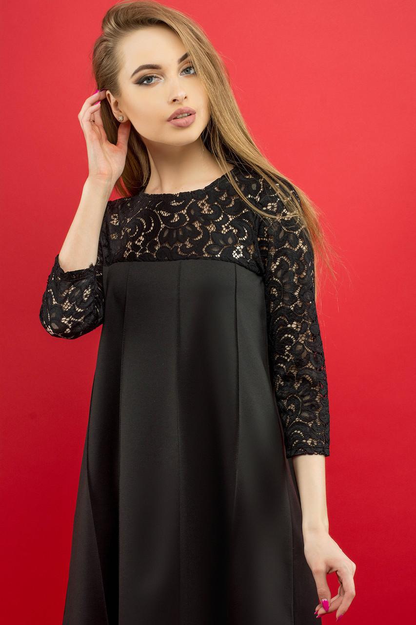 8f455e29be4 Женское молодежное платье Эмма   цвет черный   размер 44-52  продажа ...