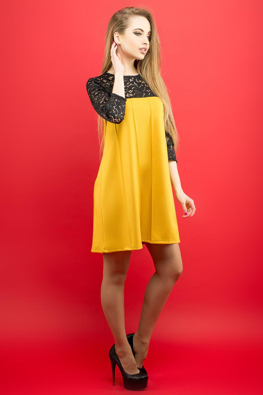 098064552b4f Женское молодежное платье Эмма   цвет горчичный   размер 44-52