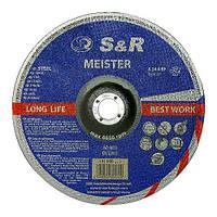 Круг зачистной 180x6,0x22,2 по металлу S&R Meister A24 BF