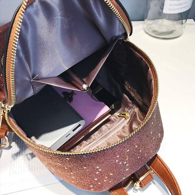 Блестящий мини рюкзак