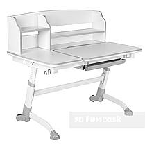 Комплект подростковая парта для школы Amare II Grey + ортопедическое кресло Bravo Purple FunDesk , фото 2