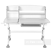 Комплект подростковая парта для школы Amare II Grey + ортопедическое кресло Bravo Grey FunDesk , фото 3