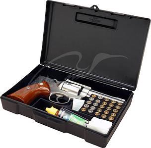Кейс MTM пістолетний з відсіком під патрони ц:чорний