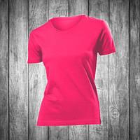 Футболка женская малиновая с круглым вырезом Stedman - Sweet Pink СТ2600