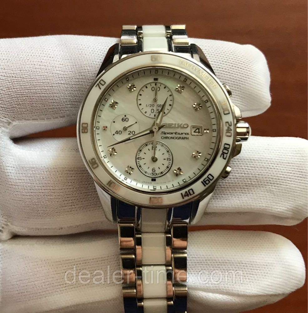 4e5cae6da6d41 Женские часы Seiko Ladies Sportura Diamonds-SNDX95: продажа, цена в ...