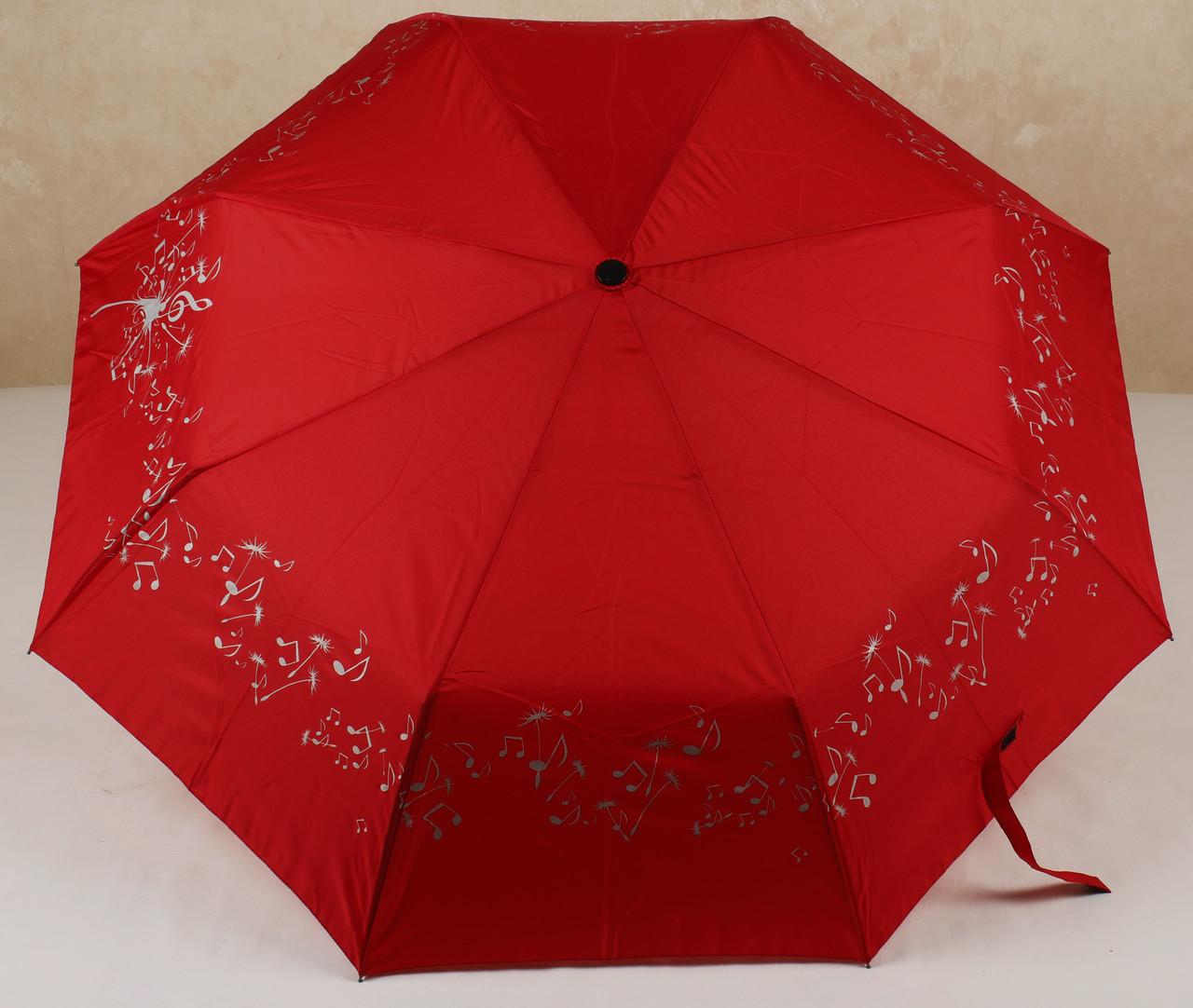 Зонт женский полуавтомат с нотами Flagman