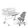 Комплект подростковая парта для школы Amare II Grey + ортопедическое кресло Bravo Grey FunDesk