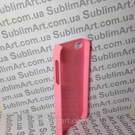 Чехол для 2D сублимации пластиковый Iphone 4/4S розовый , фото 2