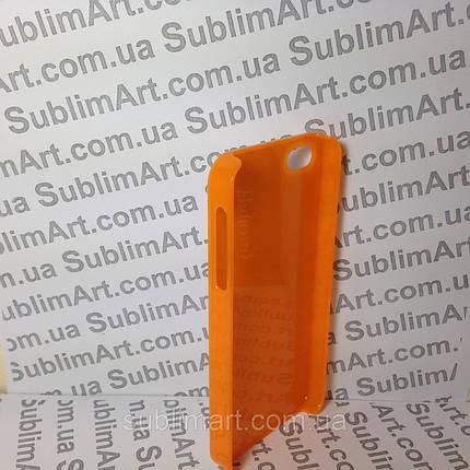 Чехол для 2D сублимации пластиковый Iphone 4/4S оранжевый , фото 2